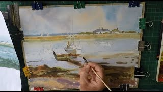 How to paint sailing boat in watercolour