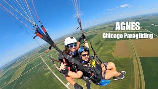 Tandem with Agnes | Chicago Paragliding
