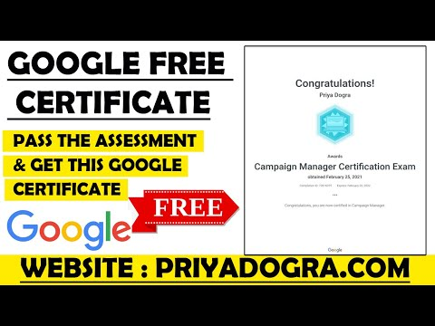 Google Free Certificate | Google Free Courses & Certification | How ...