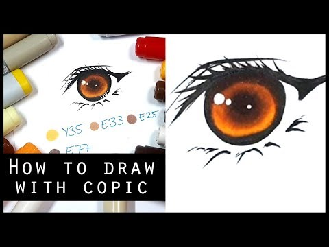 How to draw Golden-Brown Eyes with COPIC