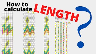 Bead Crochet Pattern Length | How To Calculate Bead Crochet Length