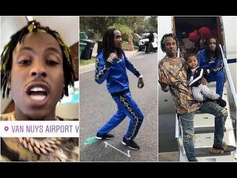 Rich The Kid Makes Quavo Plug Walk Before Getting On Private Jet