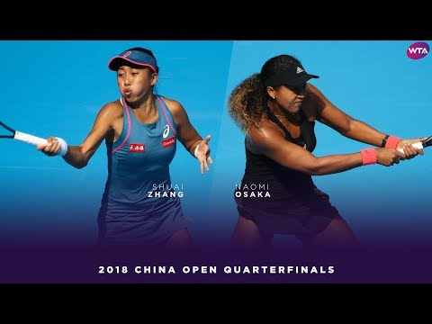 Zhang Shuai vs. Naomi Osaka | 2018 China Open Quarterfinals | WTA Highlights 中国网球公开赛