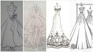 Sketch Dress Designs Drawing...