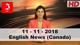 News English Canada 11th Nov 2018