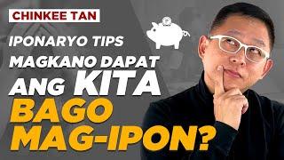 IPONARYO TIPS: Magkano Dapat Ang Kita Bago Mag Ipon?