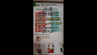 شرح خطوات تدريس Unit  1  Lesson 3 للصف الخامس الابتدائي