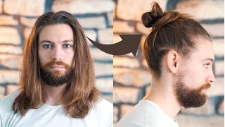 How To Tie A Messy Man Bun