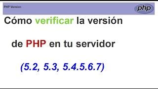 Cómo verifica la versión de PHP en tu servidor con( info.php)