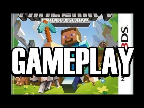 Minecraft 3DS Gameplay! (Minecraft Nintendo 3DS Edition)