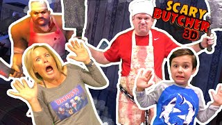 Scary Butcher 3D Horror Game In Real Life Kids Skit