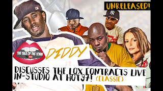 CLASSIC!! Diddy Brings Lox Contracts To Angie Martinez at HOT 97 [2005] (Part 1)