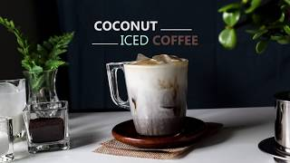 Coconut Iced Coffee (vegan) ☕☕☕| The Best Dairy-free Coffee _Ep10 #Stayathome Cook #Withme