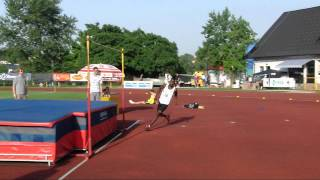 preview picture of video 'High Jump - Barry Trevor (Bahamas) 228 cm - Novo mesto 2009'