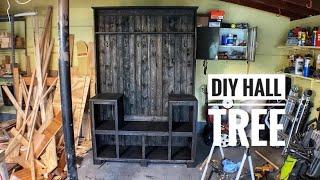 DIY HALL TREE STORAGE BENCH