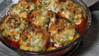 Günün menüsü# Sandal köfte#Pratik yemek tarifleri#Frikadellen mit Gemüse im Ofen#Blitzrezepte