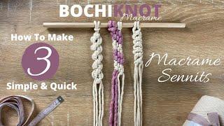 3 Intermediate Macrame Knots & Sennits Patterns