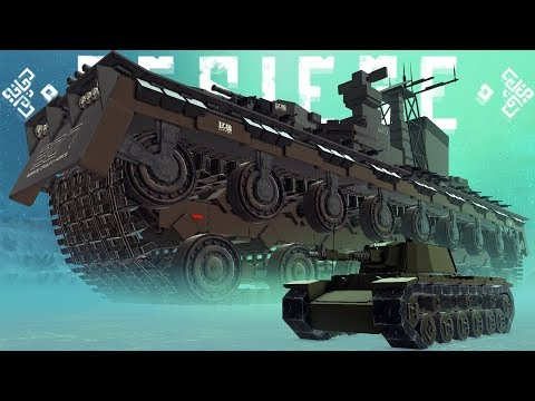 The Largest Tank Known To Man - Triple-barrel Tank & More Amazing Creations - Besiege Best Creations