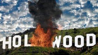 Hollywood's landmark sign burns after large explosion - after effects