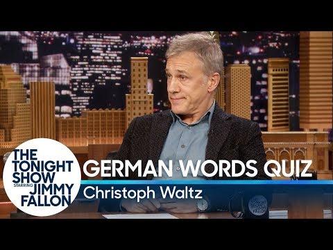 Christoph Waltz Gives Jimmy Fallon a German Words Quiz