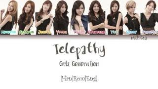 GIRLS' GENERATION (소녀시대) SNSD - 텔레파시  (TELEPATHY) Lyrics Color Coded |Han|Rom|Eng|