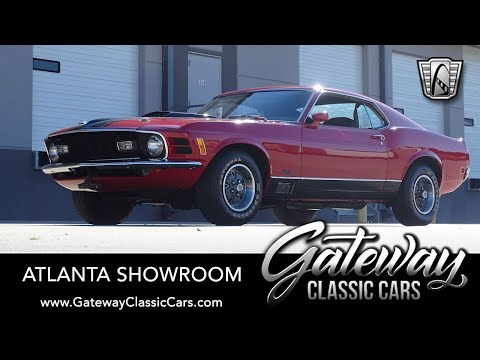1970 Ford Mustang Fastback For Sale Gateway Classic Cars of Atlanta #1402