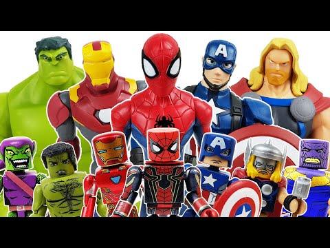Avengers Minimates! Defeat the Thanos! Go~! Thor, Hulk, Spider-Man, Iron Man, Captain America