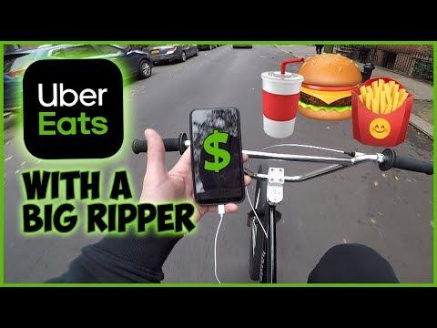 I Made $$$ Doing UBER EATS On A BIG RIPPER (NYC) #ubereats