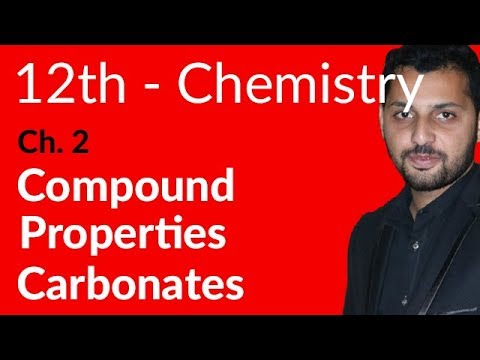 Fsc Chemistry book 2, Ch 2 - Carbonates in Compound Properties - 12th Class Chemistry