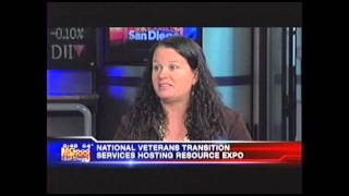 WOMEN VETERANS IN TRANSITION EXPO AND WOMEN IN COMBAT  KUSI TV  10 8 13 6am