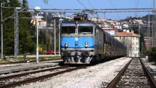 preview picture of video 'Bakar - Linz freight train passing through Matulji'