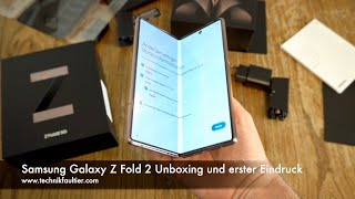 Samsung Galaxy Z Fold 2 Unboxing und erster Eindruck