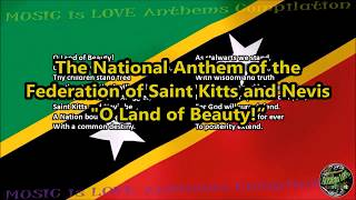 "Saint Kitts and Nevis National Anthem ""O Land of Beauty!"" with music, vocal and lyrics English"