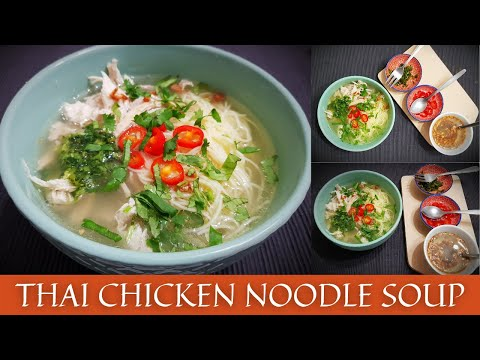 Thai Chicken Noodle Soup   Thai Soup Recipe   Restaurant Style   The Cooking Melody 