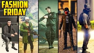 GTA Online FASHION FRIDAY! 20 OUTFITS! (The Designer, The Survivalist, Crimson Biker & MORE)