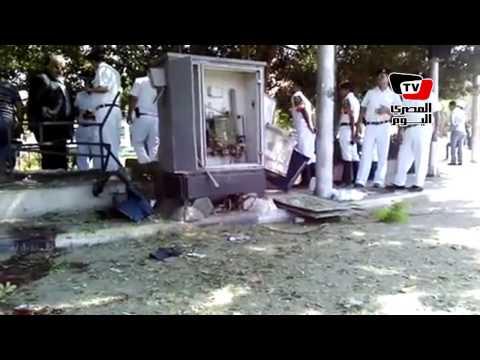 اللحظات الأولي بعد تفجير قنبلة ميدان المحكمة