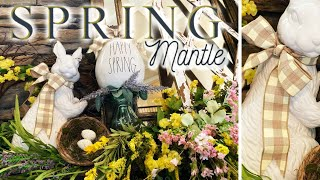 Spring Mantle - Decorate with me! 🌷 🍃 🐰