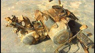 Restoration Longin engine designed in Japan, Restore old and rusty Japanese motorbike
