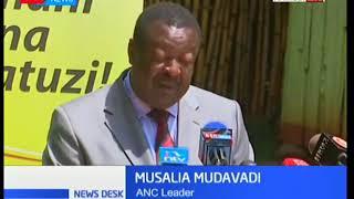 Leader of the Amani National Congress political party Musalia Mudavadi media briefing