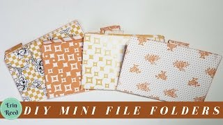 DIY Mini Decorative File Folders From Scrapbook Paper