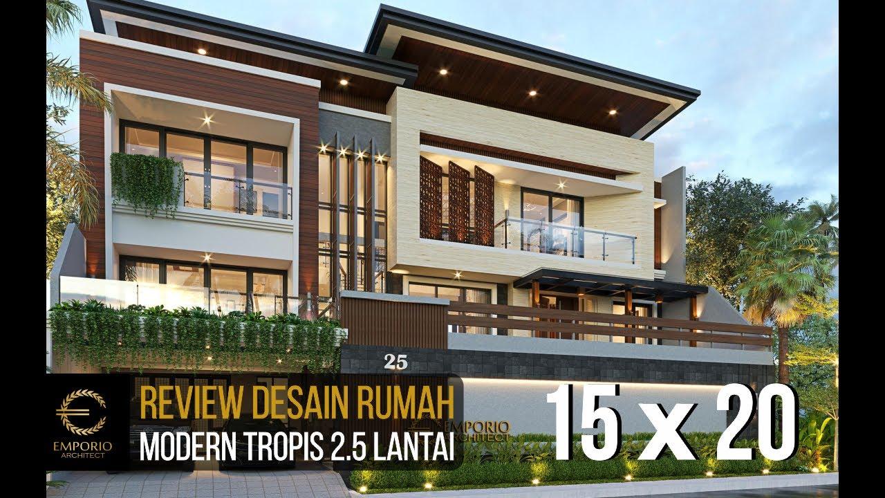Video 3D Mrs. Tutus Modern House 2.5 Floors Design - Malang, Jawa Timur