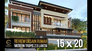 Video Desain Rumah Modern 2.5 Lantai Ibu Tutus di  Malang, Jawa Timur