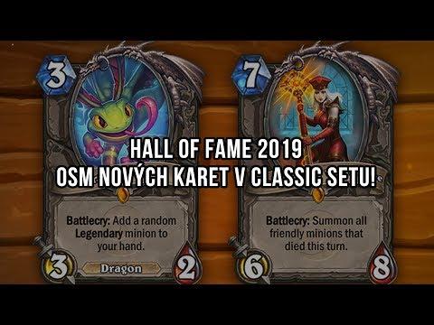 Hall of Fame 2019 a osm nových karet!