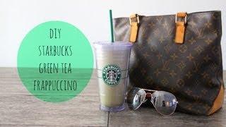 DIY Starbucks Green Tea Frappuccino