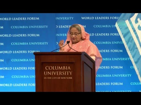 Prime Minister Sheikh Hasina | Columbia World Leaders Forum