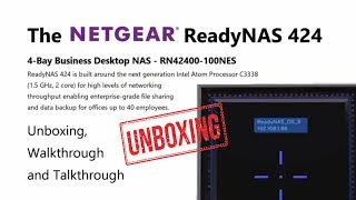 Unboxing the NetGear ReadyNAS 4-Bay Business NAS 424 RN42400-100NES
