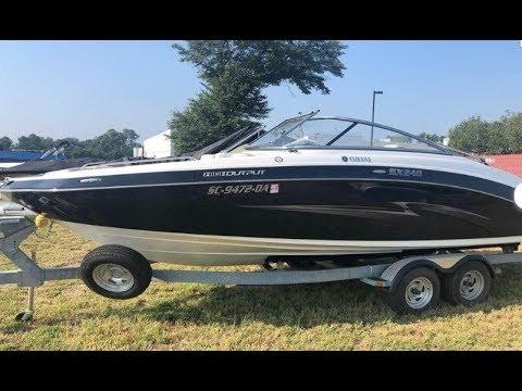 2013 Yamaha Boats SX240 Used Boat For Sale at MarineMax Greenville