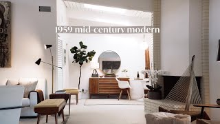 1959 Minimalist Mid-Century Modern Home Decor, Living Room, Kitchen, Bathroom