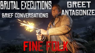 the fine folk of red dead redemption 2
