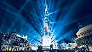 Dubai, UAE Burj Khalifa Laser Show 2018 I New Year Celebration I HD